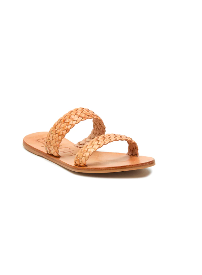 Nude  Leather Braided 2 Strap Sandals by Matisse - Tulum
