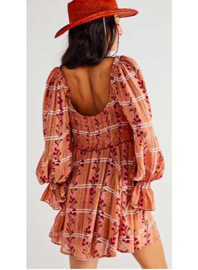 Jackie Mini Dress by Free People - Rust