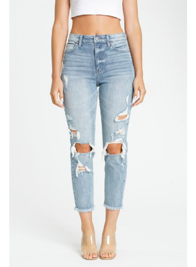 Tobi Super High Rise Crop Mom Jeans by Eunina - Eternal Youth