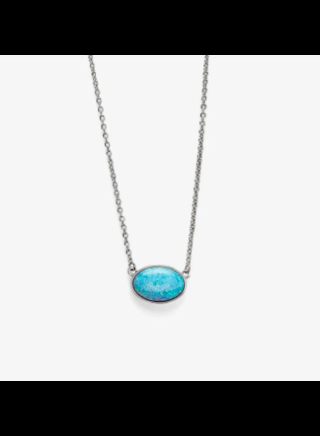 Pura Vida -  Opal Pendant Necklace - Silver