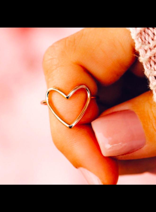 Pura Vida - Big Heart Band Ring