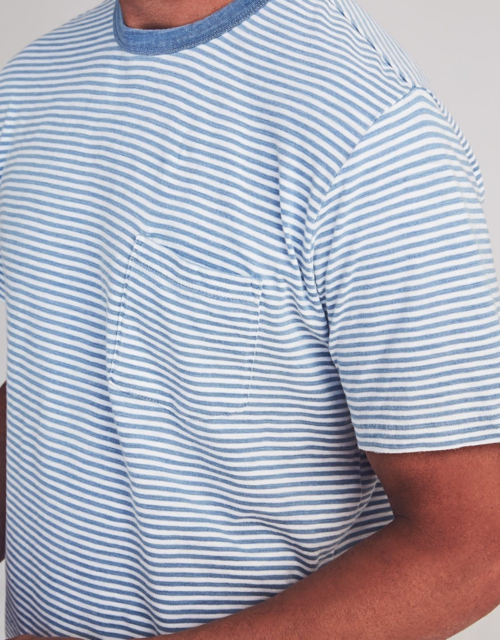 Faherty Stripe Pocket Tee