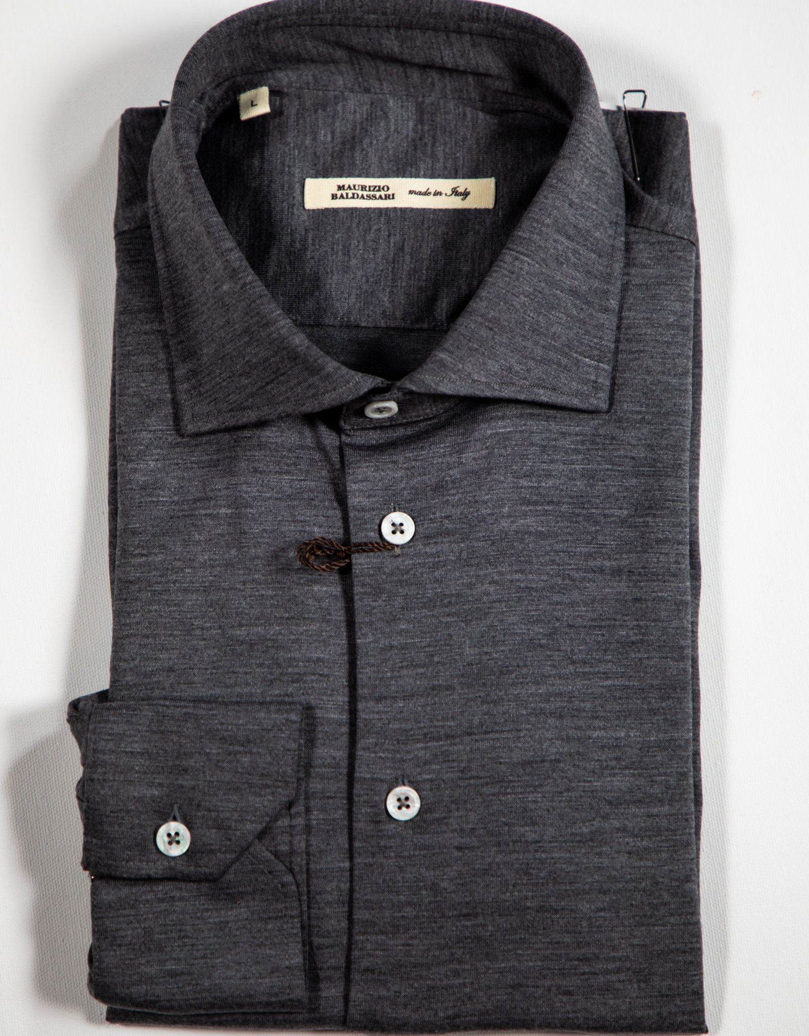 MAURIZIO BALDASSARI Knitted Wool Shirt