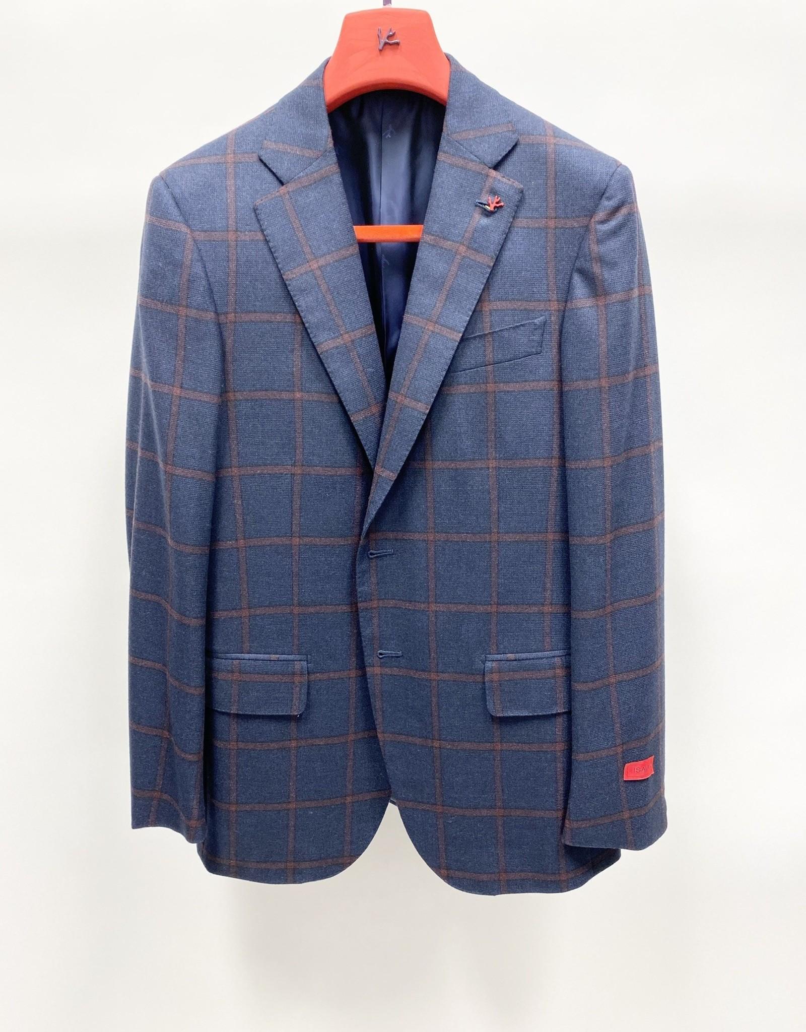 Isaia Windowpane Sport Coat