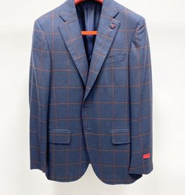 Isaia Windowpane Sport Coat