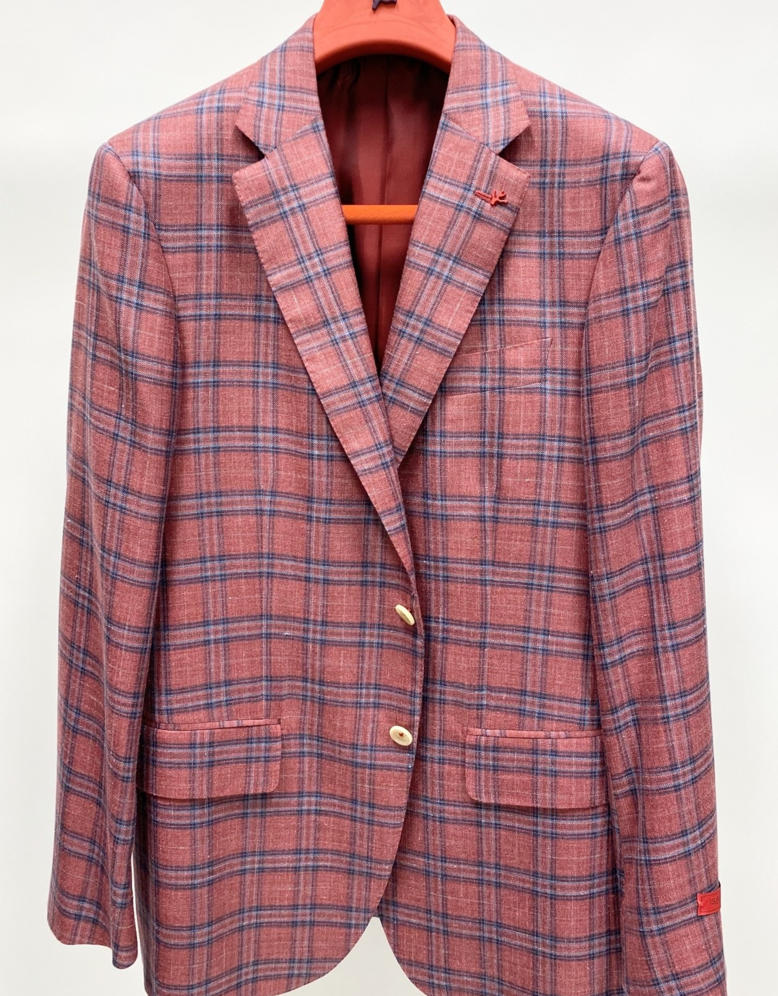 Isaia Plaid Sport Coat