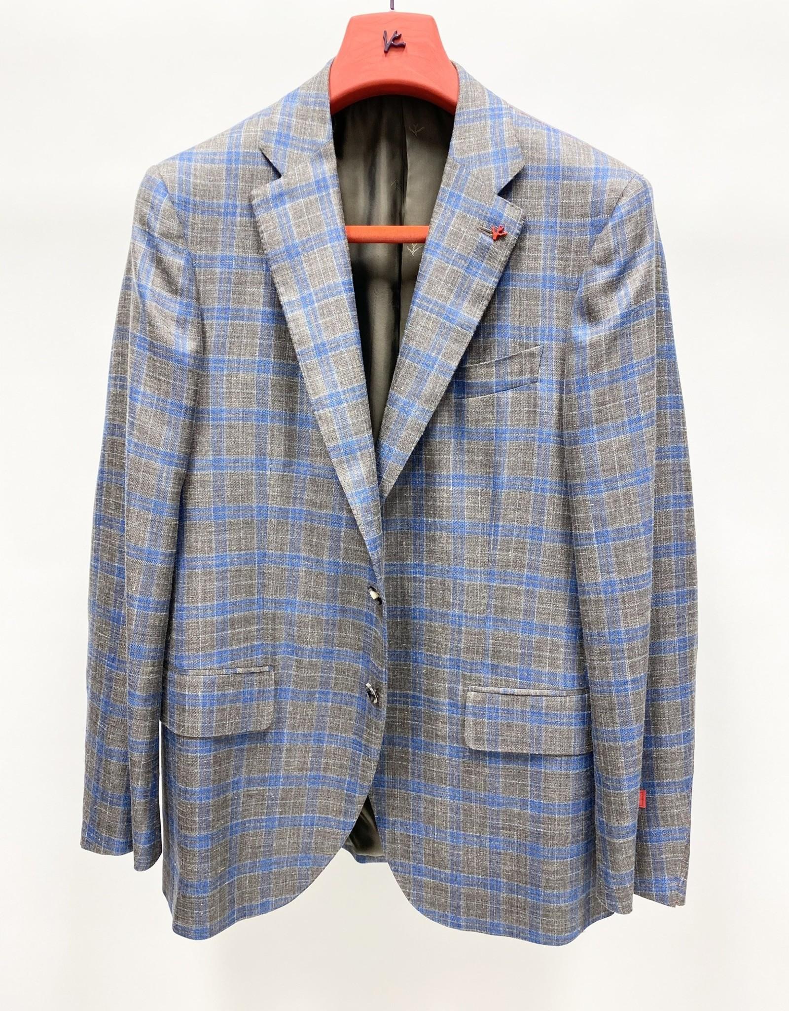 Isaia Plaid Sport Coat