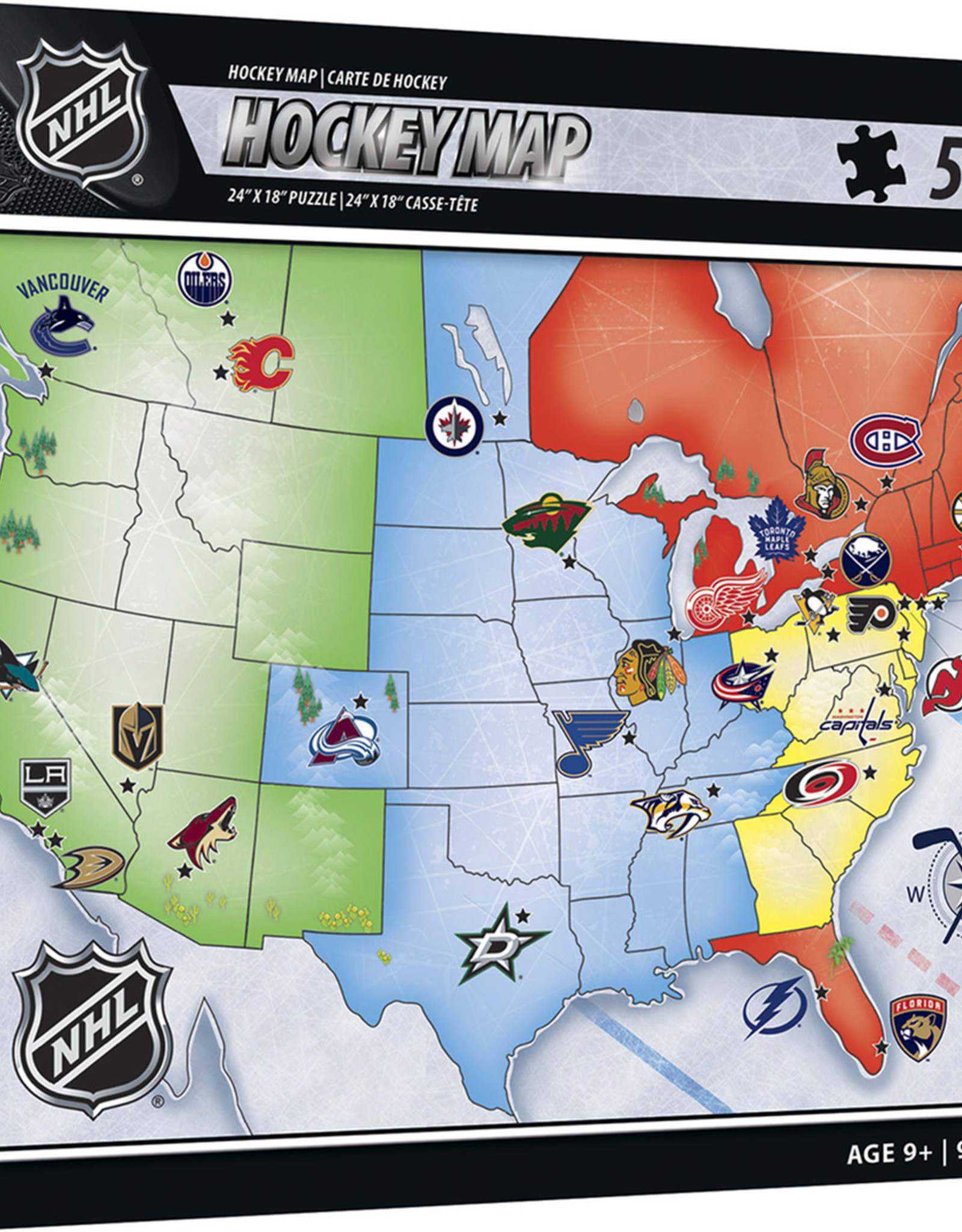 Master Pieces Master Pieces NHL Hockey Map