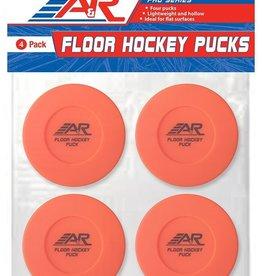 A&R A&R Street Hockey Puck (Orange) 4 Pack