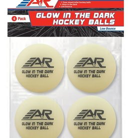 A&R A&R Glow In The Dark Hockey Ball (4 Pack)