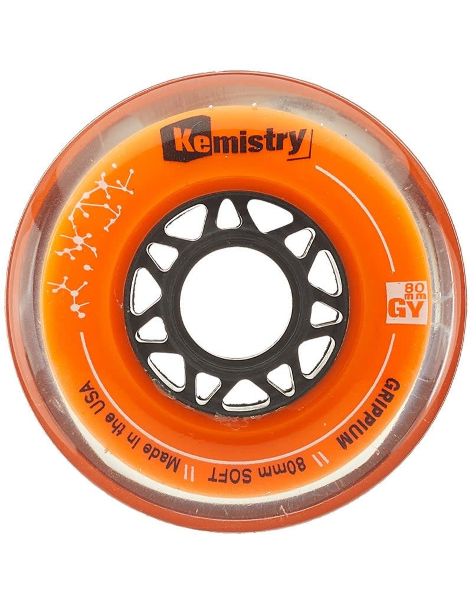 Tour Kemistry Orange Grippium Hockey Wheels