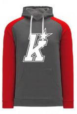 AK Kirkwood Grey/Red Hoodie (ADULT)