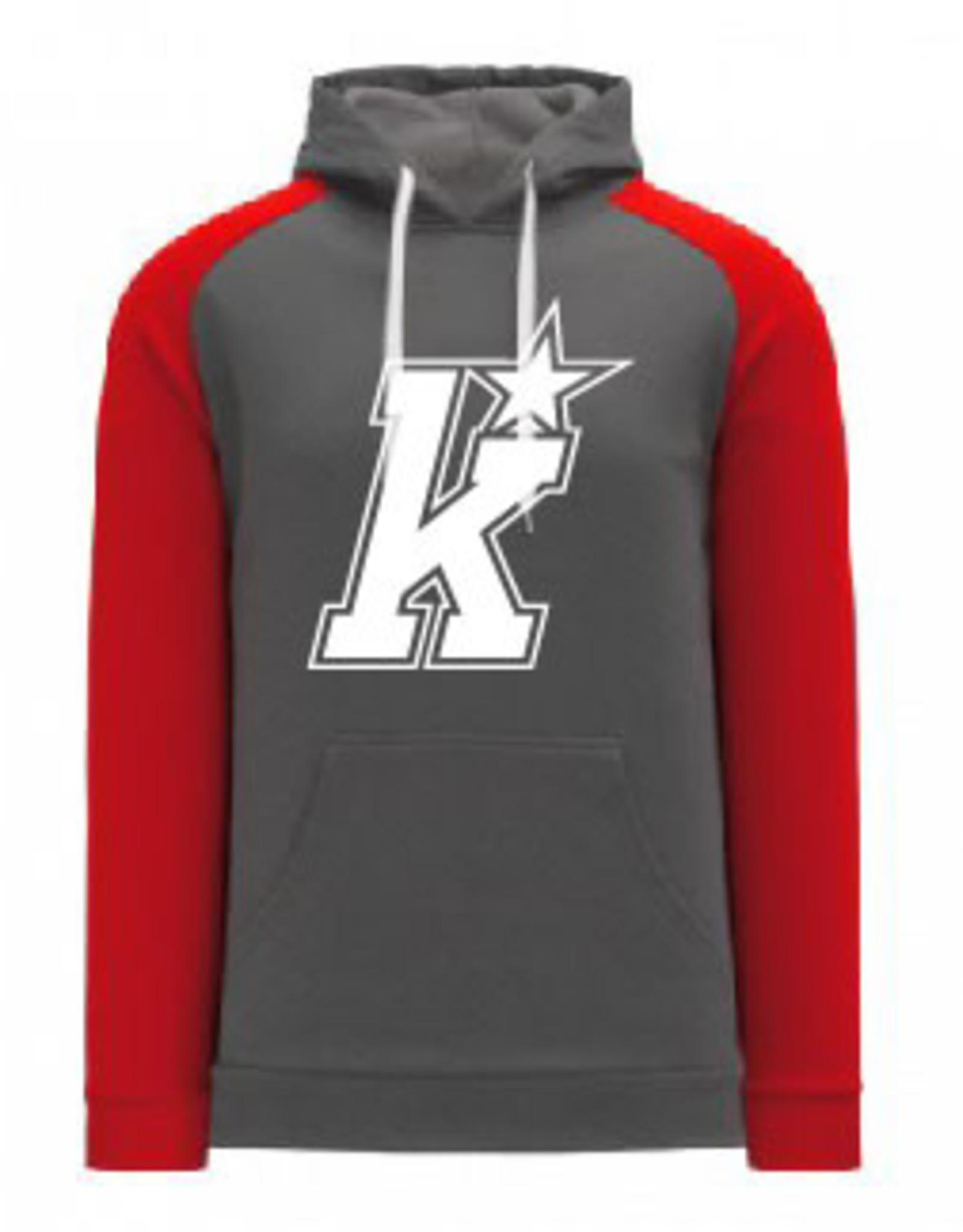 AK Kirkwood Grey/Red Hoody (ADULT)