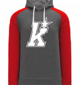 AK Kirkwood Grey/Red Hoody (ADULT)