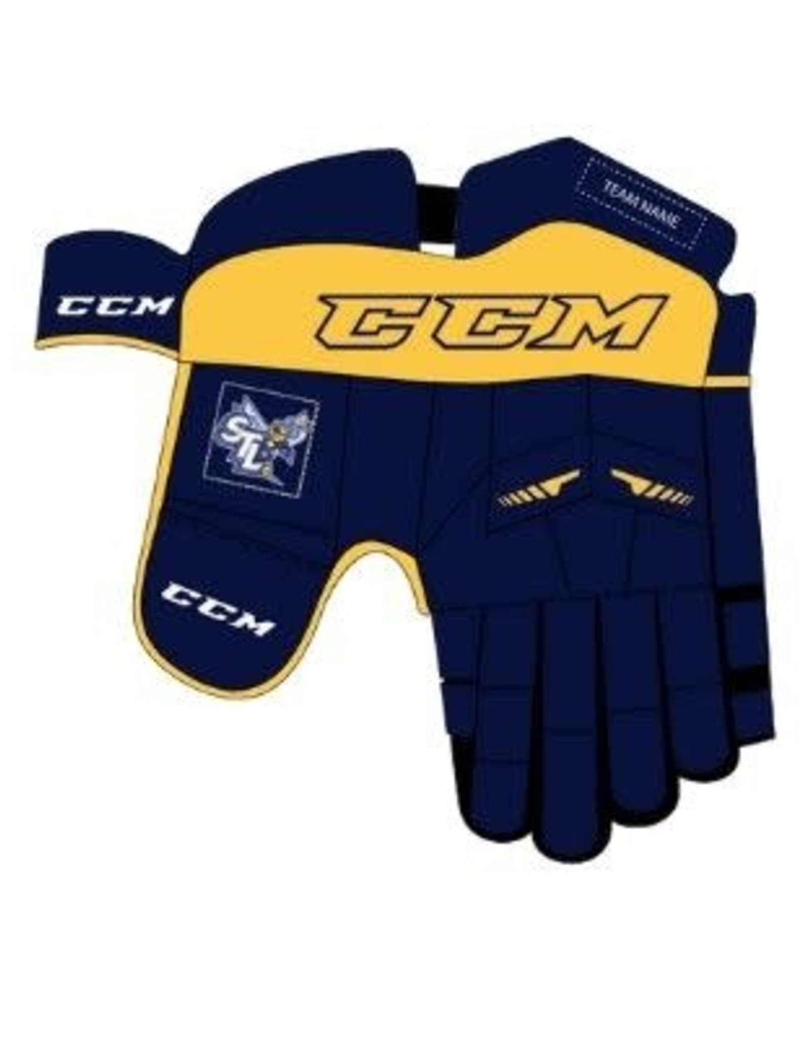 CCM Custom CCM St. Louis Sting Glove (JUNIOR) Navy