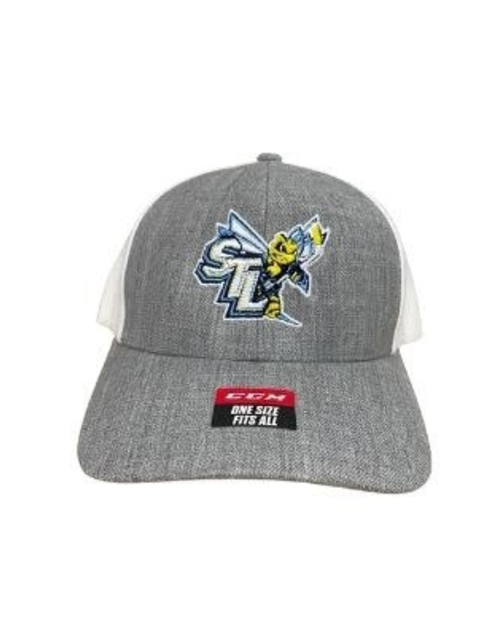 CCM STING CCM Grey/White Snapback Hat