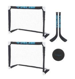 TRUE TRUE Mini Hockey Kit (2 Goals, 2 Sticks, Ball & Bag)