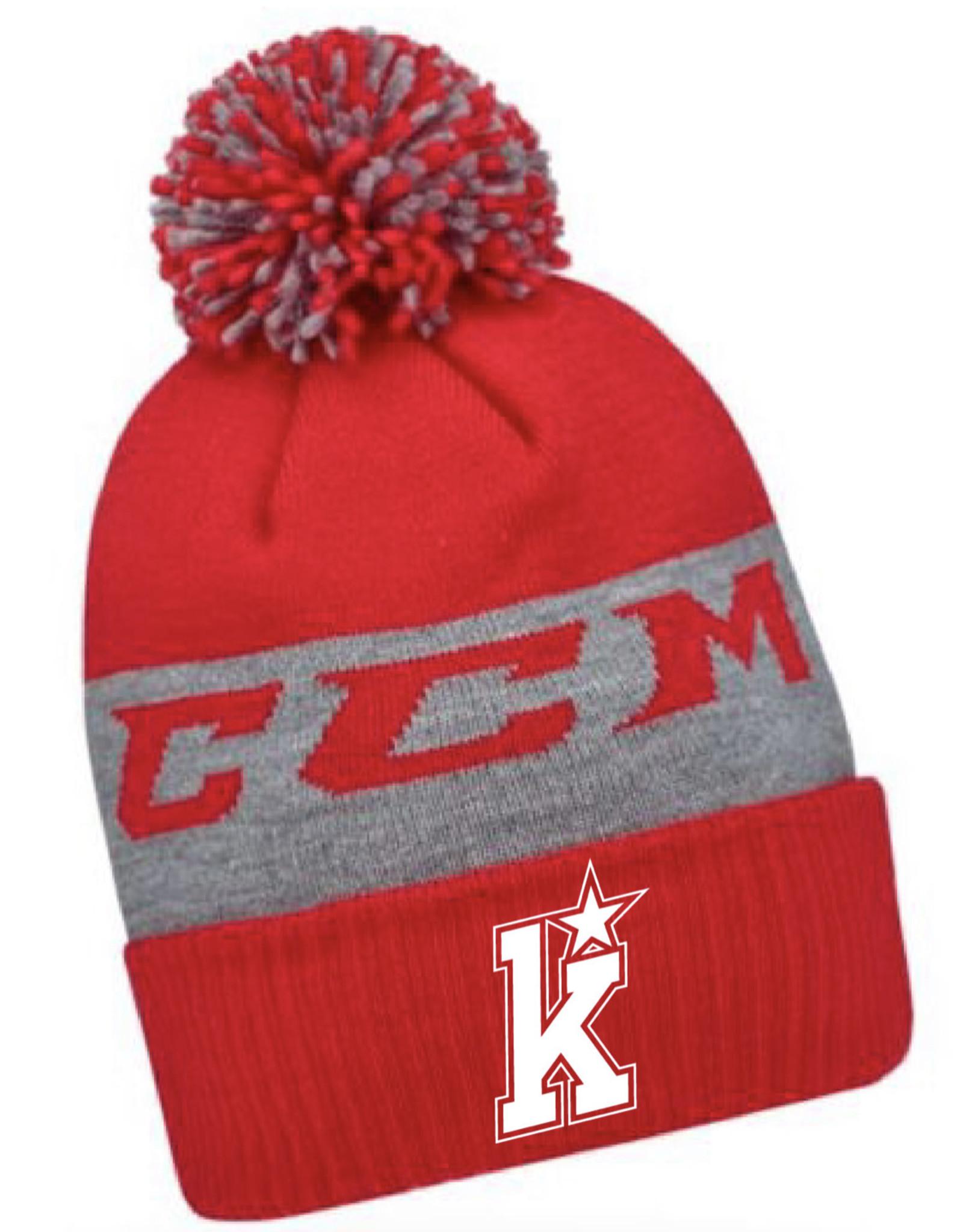CCM Kirkwood CCM Fleece Pom Knit (RED)