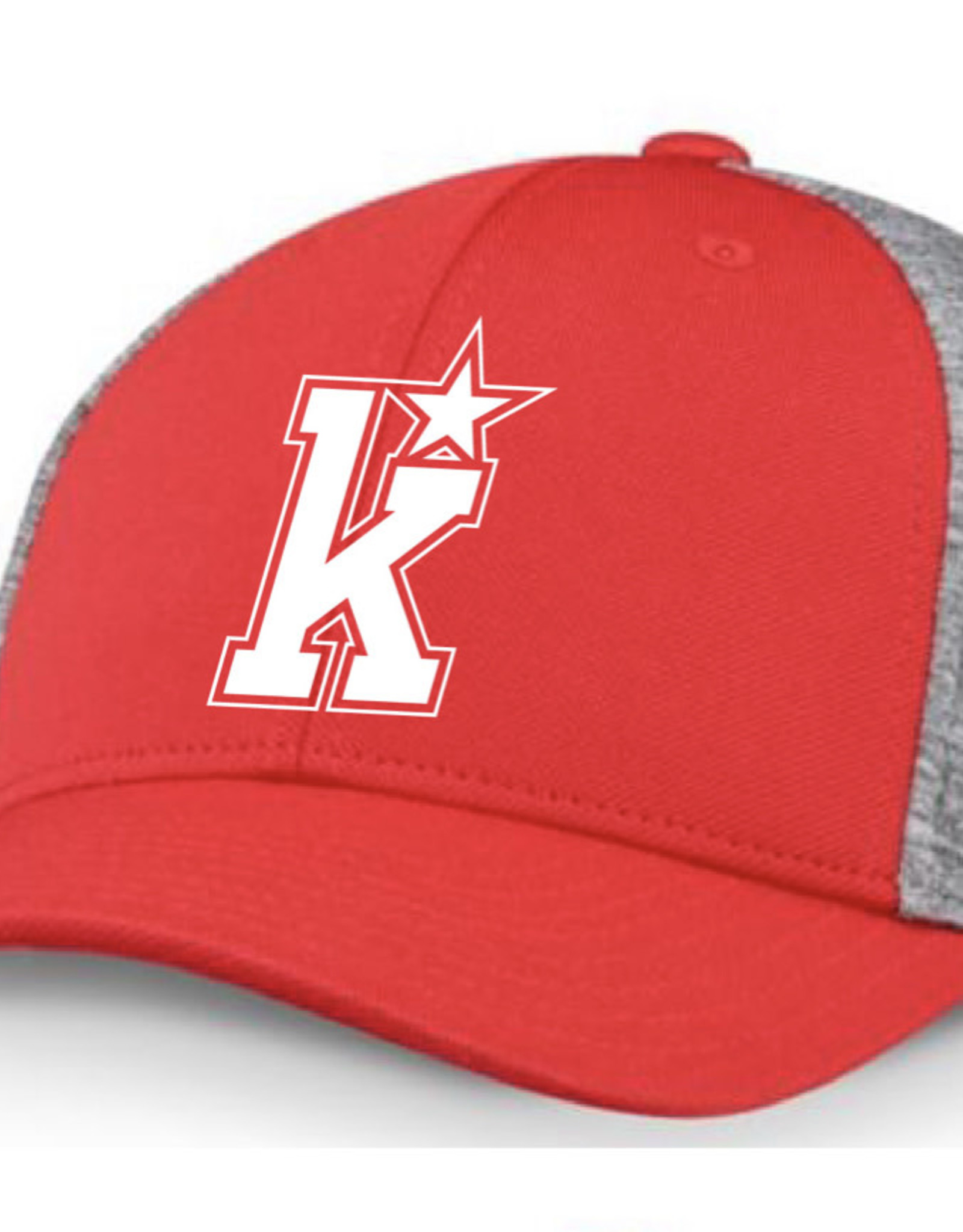 CCM Kirkwood CCM Red/Grey Fitted Hat (S/M) ADULT