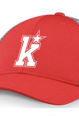 CCM Kirkwood CCM Red/Grey Fitted Hat (L/XL) ADULT