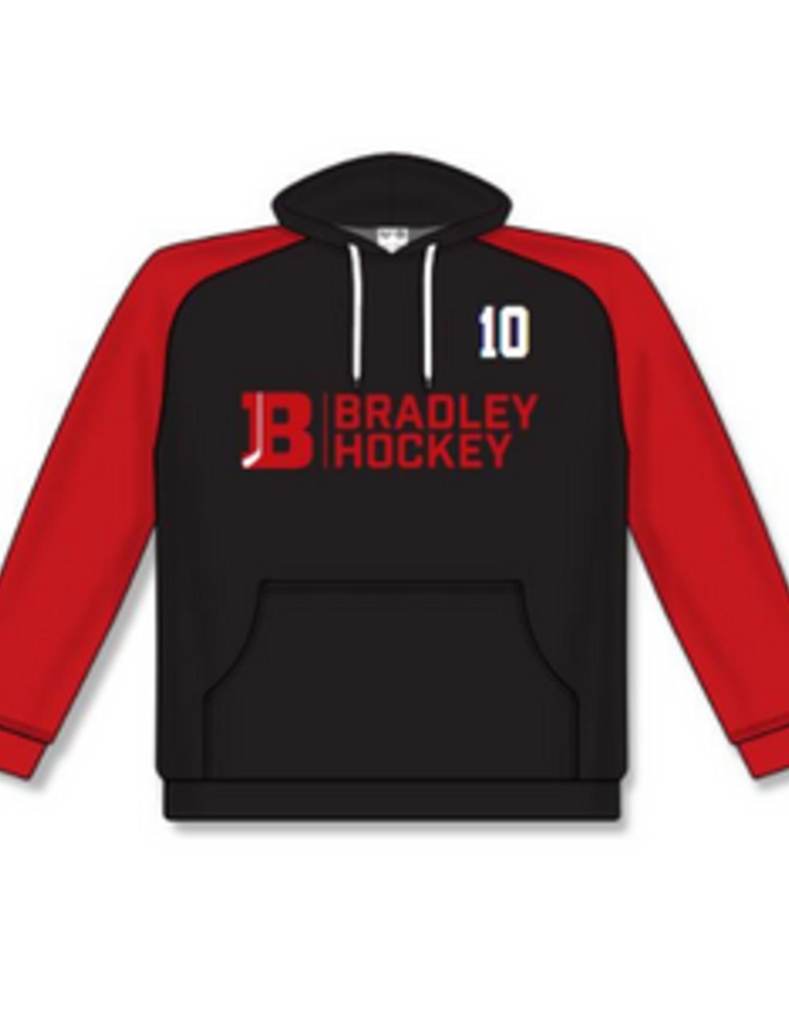 AK Bradley AK Black/Red Lace Up Hoodie (SENIOR)