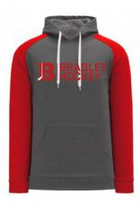 AK Bradley AK Grey/Red Bradley Hockey Lace Up Hoodie (SENIOR)