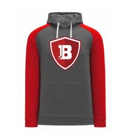 AK Bradley AK Grey/Red Logo Lace Up Hoodie (SENIOR)