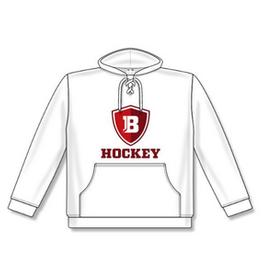 AK Bradley AK White Logo Lace Up Hoodie (SENIOR)