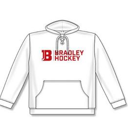 AK Bradley AK White Bradley Hockey Lace Up Hoodie (SENIOR)