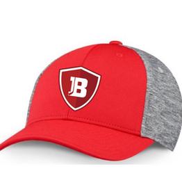 CCM Bradley CCM Red/Grey Fitted Hat (ADULT) L/XL