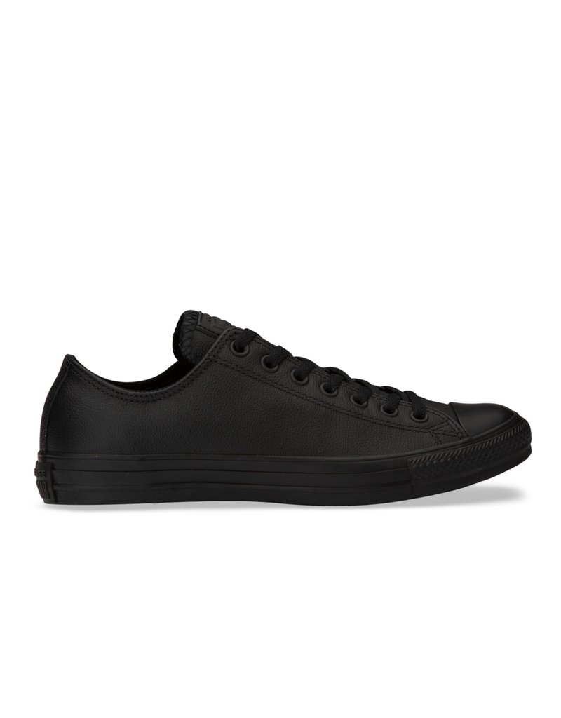 CONVERSE CONVERSE CHUCK TAYLOR ALL STAR LOW LEATHER BLACK MONOCHROME