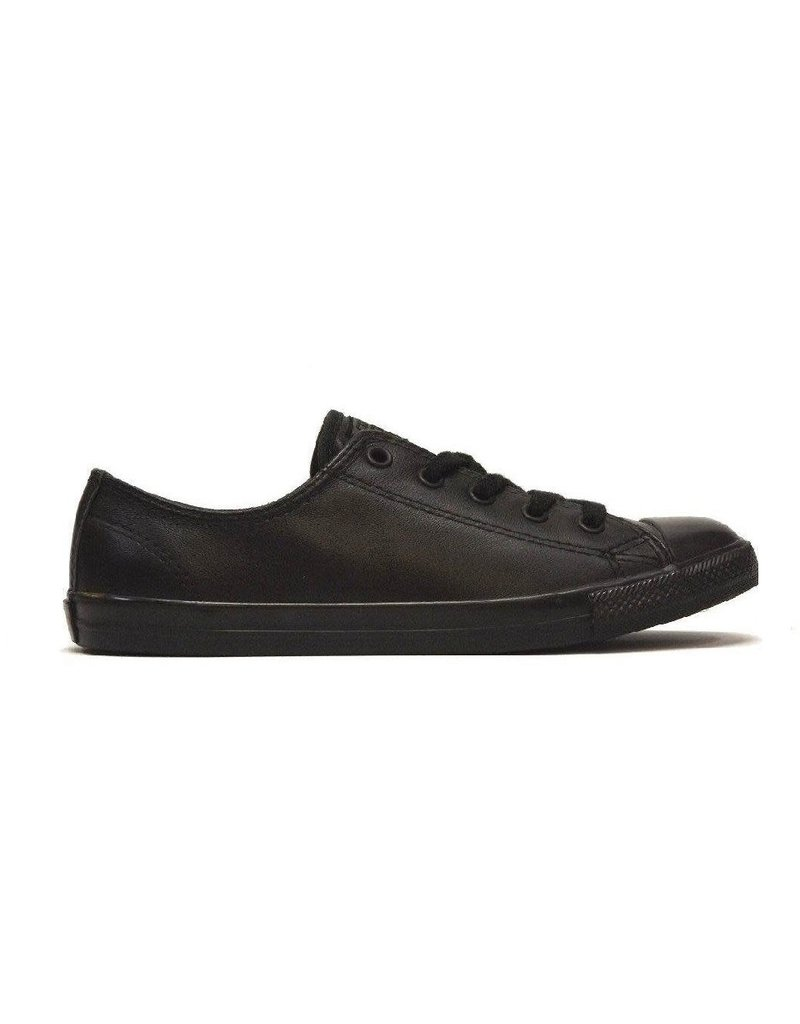 CONVERSE CONVERSE WOMENS DAINTY ALL BLACK LEATHER