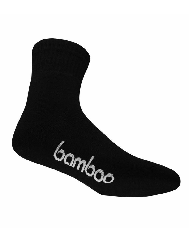 BAMBOO SOCK BAMBOO BLACK CREW MENS 4-6 WOMENS 6-10