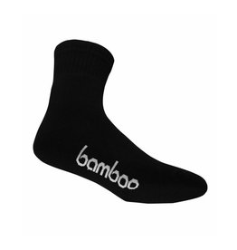 BAMBOO SOCK BAMBOO BLACK CREW MENS 10-14  L