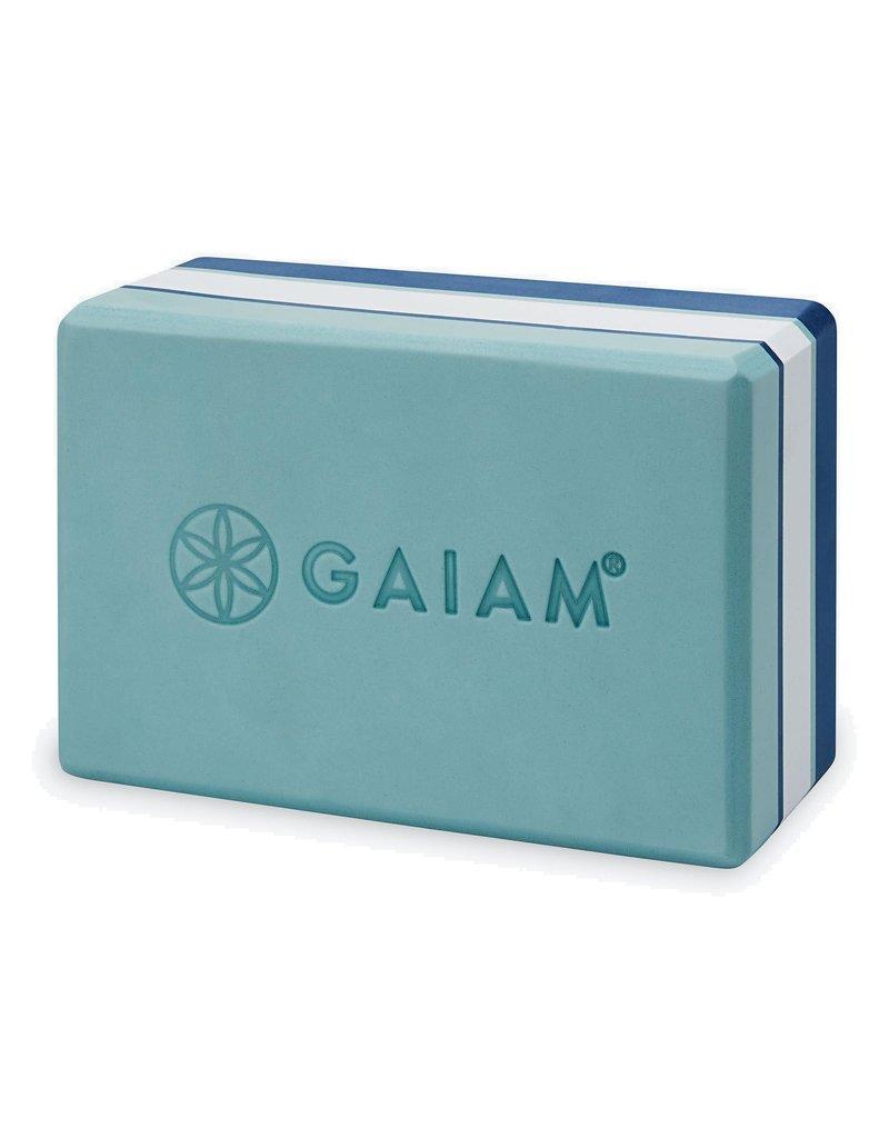 GAIAM YOGA BLOCK GAIAM TRI COLOUR BLUE