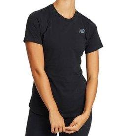 NEW BALANCE T-SHIRT NEW BALANCE WOMENS WT01157 BLACK
