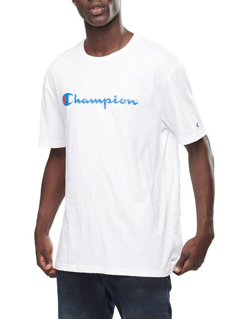 CHAMPION T-SHIRT CHAMPION MENS SCRIPT WHITE
