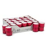 ABBOTT ABBOTT Extra Long Burn Tealight - Red DISC