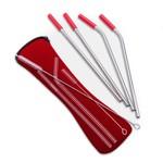 ABBOTT ABBOTT Straws & Brush In Pouch S/4 - Red DISC