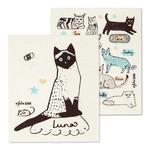 ABBOTT ABBOTT JULIA GASH Cats with Names Swedish Dishcloth S/2