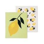 ABBOTT ABBOTT Lemon Swedish Dishcloth S/2
