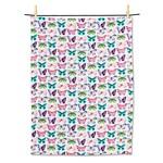 ABBOTT ABBOTT Watercolour Butterfly Tea Towel
