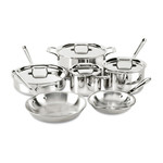 ALL CLAD ALL CLAD D5 Polished 10pc Set REG $1100.00