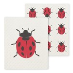 ABBOTT ABBOTT Ladybug Swedish Dishcloth S/2