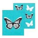 ABBOTT ABBOTT Butterfly Swedish Dishcloth S/2