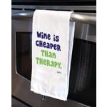 GRIMM GRIMM Wine Is Cheaper Tea Towel DNR