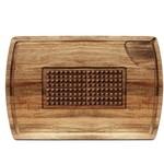 """NATURAL LIVING NATURAL LIVING Acacia Multi-Function Carving Board 12x18"""""""