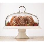 BRILLIANT BRILLIANT Bianco Pedestal Cake Plate & Dome 30cm