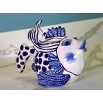BLUE SKY CLAYWORKS BLUE SKY Delft Fish Teapot