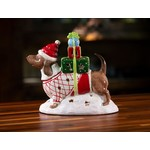 BLUE SKY CLAYWORKS BLUE SKY Red Dachshund with Gifts Candle House